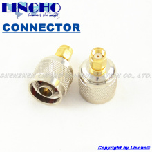 10 pcs sales 50 ohm brass rf n male to rp sma male connector 2.4GHz wifi antenna cable rp sma adaptor