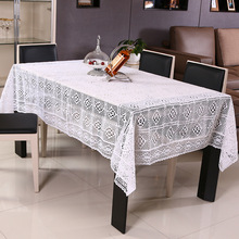 European Country Style 100% Cotton Crocheted Decorative Table Cloth Tea Table Table Cloth  Multi-function Cover White/Beige