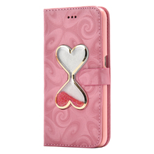 3D Time Sand Leak LOVE Heart fluent Liquid Case Leather Cover Samsung Galaxy S5 S7 S6 Edge A3 A5 A8 A9 J3 J5 J7 J510 J710 - ACR-RCOVER Store store