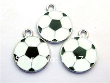 50pcs Football Hang Pendant Charm Fit Necklace Pet tags Phone Strips