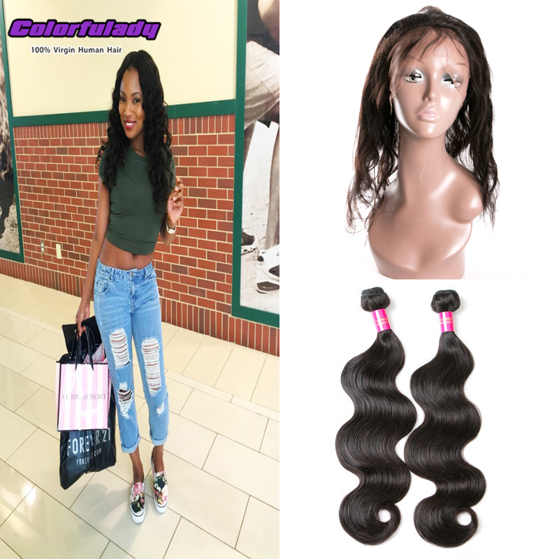 360 lace frontal closure baby annabelle with 2 bundles brazilian virgin hair with 360 lace frontal closure stema hair company<br><br>Aliexpress