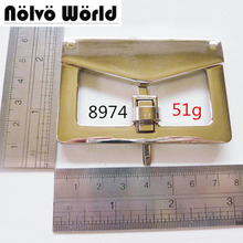Attractive idea big gold turn lock bags metal functional lock for hand bag DIY workshop hardware(China)