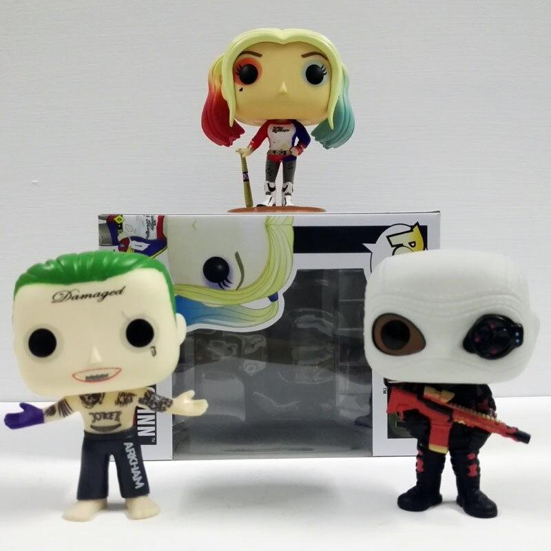 Funko Pop Suicide Squad Boomerang Batman Joker Harley Quinn Deadshot Masket Collectible Vinyl Figure PVC 10CM Model toys<br><br>Aliexpress