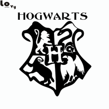 Classic Movie Harry Potter Hogwarts Coat Of Arms Cut Vinyl Wall Art Sticker / Decal(China)