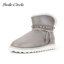 Winter Snow Boots 100% Australian Wool Classic Style Mujer Botas Women Boots Waterproof Genuine Sheepskin Leather Ankle Boots(China)