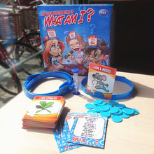 "Portable Travel Game ""Who Am I"" Family Party Board Games For Kids 2-6 Players 74 Cards, 6 headbands, 24 chips, 1 hourglass timer(China)"