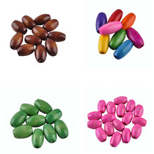 LNRRABC Fashion New ! 10*6MM Handmade Colored Natural Wood Beads For DIY Fashion Jewelry Making   150 pcs/lot