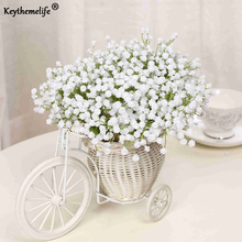 Keythemelife Mini Bride holding flowers Gypsophila Simulation Artificial Flowers DIY Garden Decor Ikebana Floriculture D3