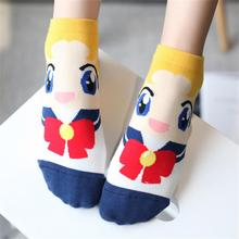 Fashion 1 Pair Spring Autumn Cute Comfortable Meias Socks Women Lady Girl Sailor Moon Rabbits Water Ice Funny Socks