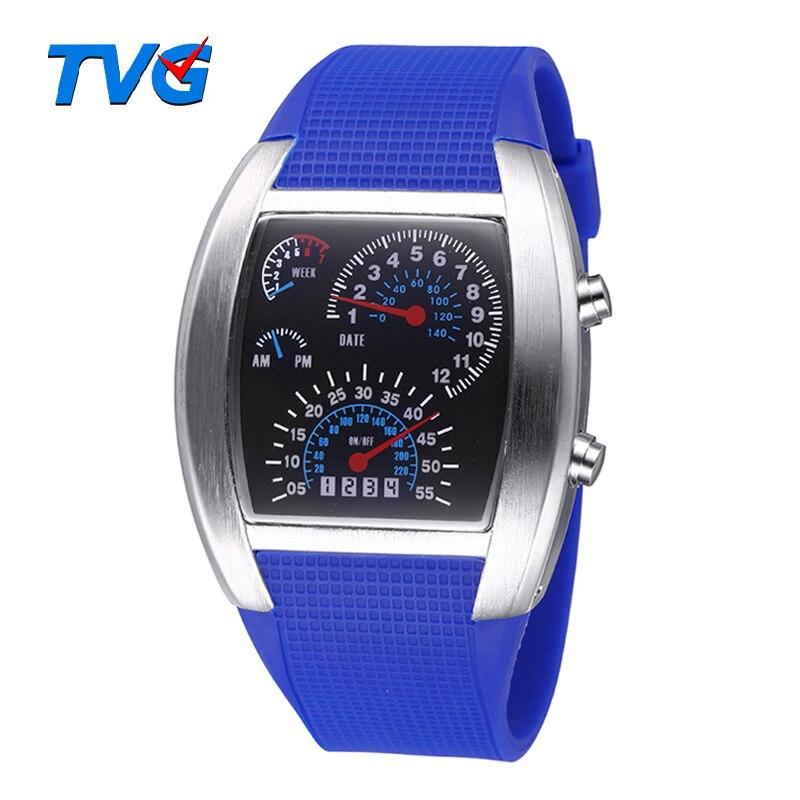 TVG Smart Aviation Military Watch LED Digital Sports Watches Men Relogio Masculino Relojes Montres Zegarki Meskie Erkek Saatler<br><br>Aliexpress