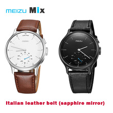 Meizu MIX Smart Watch Bluetooth 316L steel Case Pedometer Calorie Consumption Call SMS Reminder with Leather Belt smartwatch