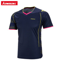 2017 Kawasaki ST-171014 Mens Badminton T-Shirt Quick Dry Breathable Sportswear Table Tennis T Shirts For Male Blue