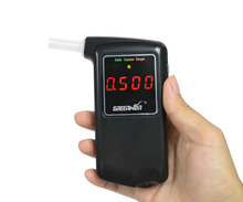 Free shipping 2016 new high accuracy Prefessional Police Digital Breath Alcohol Tester Breathalyzer AT858S