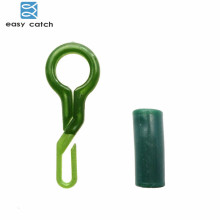 Easy Catch 20pcs Back Lead Clips With Tube Green Thermal Plastic Rubber Carp Rigs Connector Carp Fishing Accessories Tackle
