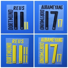 New Borussia PULISIC DEMBELE M.GOTZE REUS AUBAMEYANG football number name font print, Hot stamping Soccer patches badges(China)