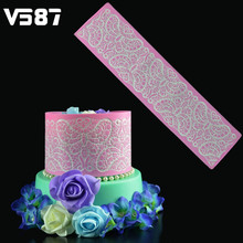 Butterflies Lace Mat Silicone Cake Fondant Mold Sugar Lace Pad Lace Fondant Mould Wedding Birthday Cake Decorating Tools
