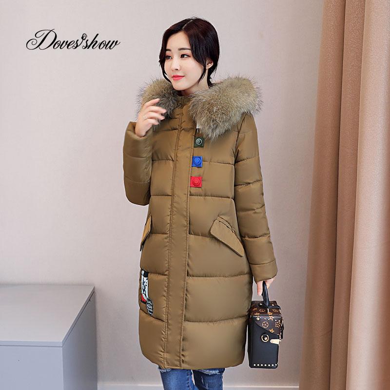 Thick Winter Jacket Women Fashion Padded Coat Mujer Fur Collar Jacket Overcoat Parka Wadded Casaco Feminino Female Jacket Q879Îäåæäà è àêñåññóàðû<br><br>