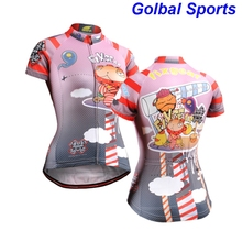 2017 hello kitty women cycling jersey funny cartoon maillot ciclismo novelty cycling clothing cute girl bike jersey