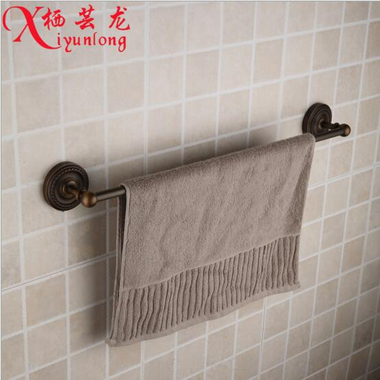 Bathroom accessories Continental retro factory wholesale antique copper single towel bar rack bathroom toilet metal pendant<br>