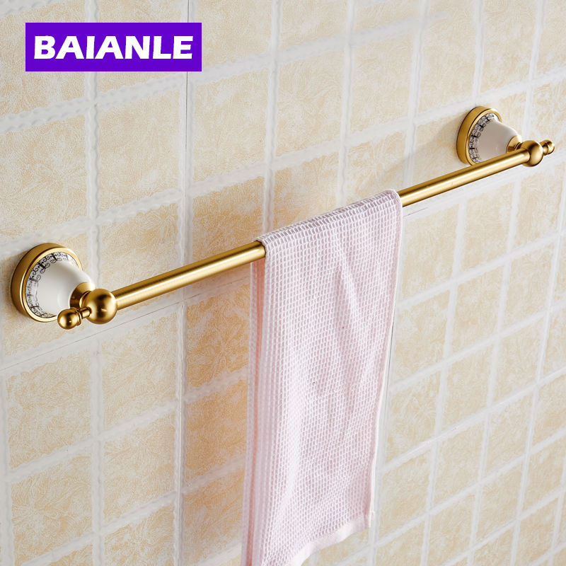 Single Towel Bar,Towel Holder, Towel rack  Alumnium &amp; ceramics Made,Chrome Finish, Bathroom Accessories<br><br>Aliexpress
