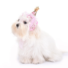 Christmas lace Hat Pet dog Headdress Hair Band Pet puppy Products Dog Hat Winter Hats for Dogs Costume Accessories grace Pet Hat