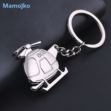 Mamojko Creative Personality Helicopter Key Chain Fashion Car Key Ring Trendy Handbag Pendant Key Holder Ornament For Men Gifts(China)