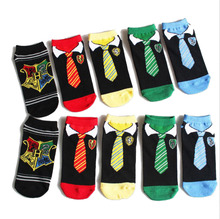 Harri Potter Cosplay toys Harri Potter Scarf Sock Gryffindor Slytherin Hufflepuff Ravenclaw muffler Summer Socks(China)