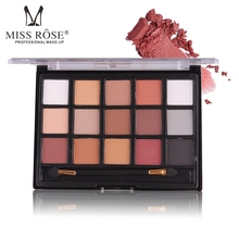 MISS ROSE New 15 Colors Autumn Winter Natural Eye Makeup Light Eye Shadow Shimmer Matte Eyeshadow Palette Set Cosmetic(China)