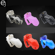 Buy Chastity Cage Men Cock Cage Sex Toys Penis Belt Lock Four Penis Rings Male Chastity Device Perforated Design Cage