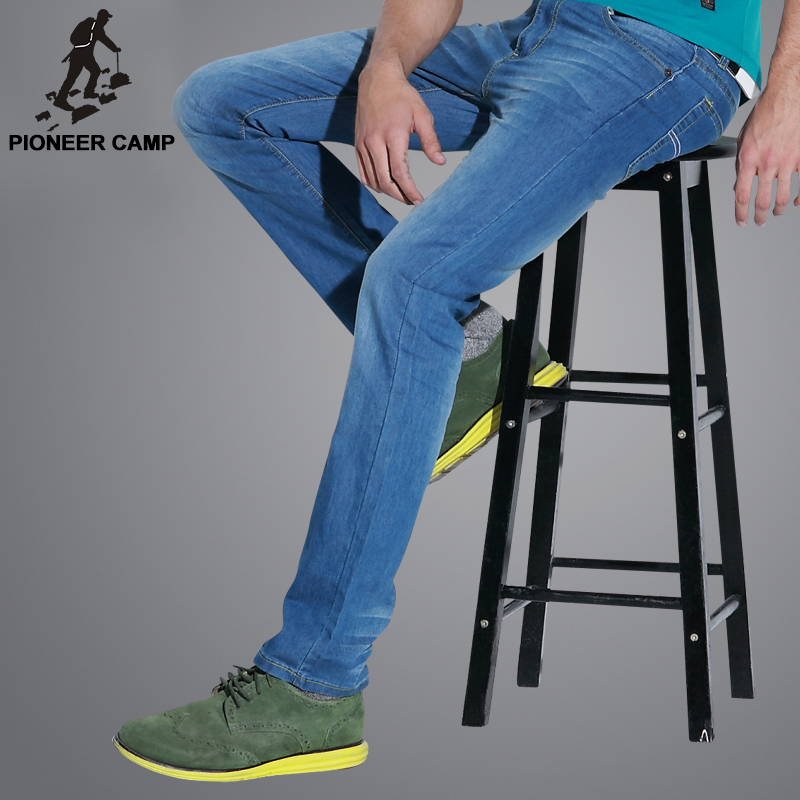 Pioneer Camp new 2017 fashion mens jeans casual mens 100%cotton pants thin breathable men clothes comfortableОдежда и ак�е��уары<br><br><br>Aliexpress