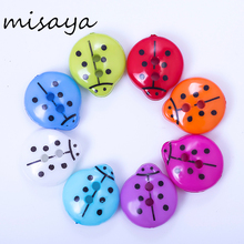 Misaya 1/2 Holes 100pcs lady brid Colorful Button 14x12 mm Plastic Buttons For Sewing Garment Supplies Accessory(China)