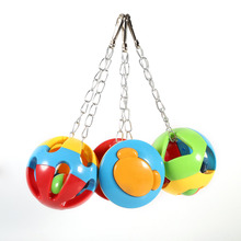 3 Styles Colorful Birds Toys Pet Parrot Parateer Perroquet Cage Hanging Balls Cockatiel Bites Toy Swing Chew Toy Bird Supplies