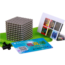 3mm or 5mm 1000pcs Magnetic Neodymium Magic Cube Puzzle Magcube Balls Neo Cube Toys for Adults with Metal Box & Card(China)