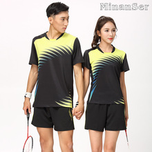 Free Printing Name Badminton wear sets Women/Men's , sports Tennis sets , Table Tennis sets , Quick dry sportswear sets 8806(China)