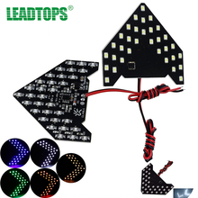 LEADTOPS 2pcs Car Side Mirror Turn Signal 33 LED SMD Led Lights For Mazda For Fiat Bmw Ford Lada Skoda Opel Audi Toyota VW Bb