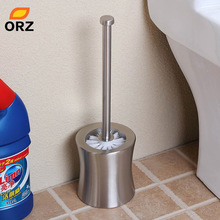 ORZ Toilet Brush Set Double-thick Stainless Steel Durable Toilet Brush Holder Bathroom Clean Accessories WC Toilet Brush Kit(China)
