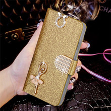Luxury Bling Liquid Glitter Cover ZTE Blade V7 Lite Flip PU Leather Phone Coque V 7 Card Slot - MOY Co.,Ltd Store store