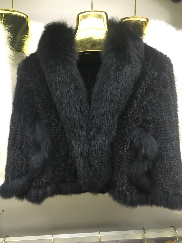 Luxury Mink Fur Shawl For Women Poncho Cape Knitted Genuine Fur Jacket Coat Female Winter Wraps Outerwear (10)