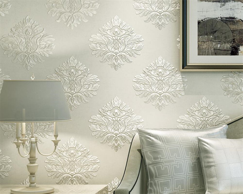 Beibehang 3D embossed deep embossed wallpaper European style wallpaper bedroom living room room full floor 3d wallpaper roll <br>