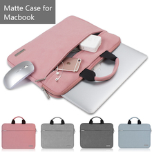Nova Matte Laptop Sacos Maleta para Apple Macbook 12 Caso Notebook 13.3 Capa para Macbook Air Pro 13 Casos com Poder Bolsa(China)