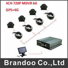4G GPS Vehicle Mobile Dvr Kits For Bus Taxi Car Forklift(China)