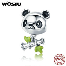 Buy WOSTU Real 925 Sterling Silver Lovely Panda & Bamboo Beads Charm Fit Original Charm Bracelet Sterling Silver Jewelry CQC325 for $8.68 in AliExpress store