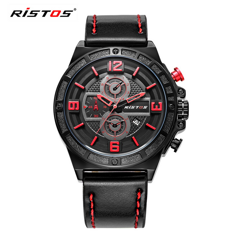 RISTOS Top Brand Luxury Men Watch Sports Waterproof Quartz Wristwatches Military Casual Mens Clock Reloj Hombre Horloge 2016<br><br>Aliexpress