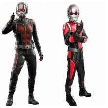 Ant-man Dress Outfit COSplay Jumpsuit PU Superhero Costume Deluxe Full Sets Mens Props Replica(China)