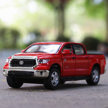 High simulation Toyota Tundra,1:36 scale alloy pull back Pickup truck models,4 open door Acousto-optic toys,free shipping