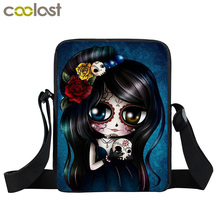 Punk Skull Women Messenger Bag Ladies Handbags Children Mini Cross Bag Boys Women Men Rock Shoulder Bags Kids School Bags