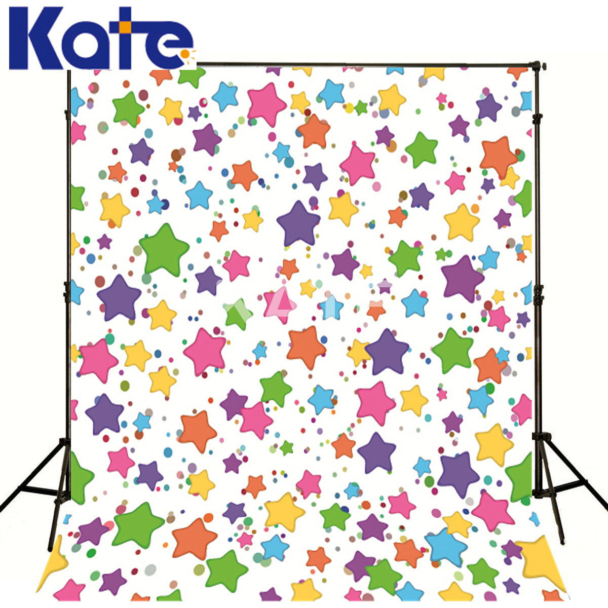 Kate Telones De Fondo Fotografia Liso Colorful Five-Pointed Star For Children Kate Backgrounds For Photo Studio<br>