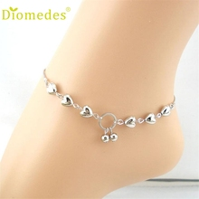 Anklets Diomedes Gussy Life Heart Cherries Women Ankle Bracelet Barefoot Sandal Beach Foot Jewelry Dropshipping Jan10