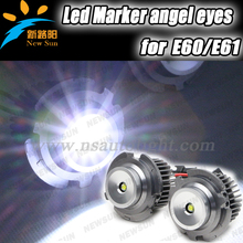 CE standard 10W Cree chips led marker angel eyes for BMW 08-10 E60 E61 LCI with halogen (Non Xenon) Headlight angel eyes only(China)