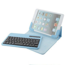 "Cool Wireless Removable Bluetooth Keyboard For Samsung Galaxy Tab 2 7.0"" P3100 P3110 P6200 P6210 Stander Leather Case free ship"